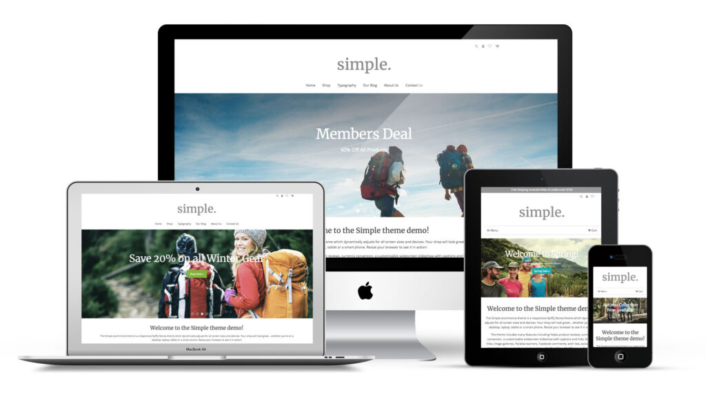 Simple Ecommerce Theme.