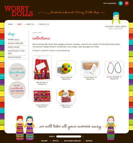 Worry Dolls Ecommerce Store