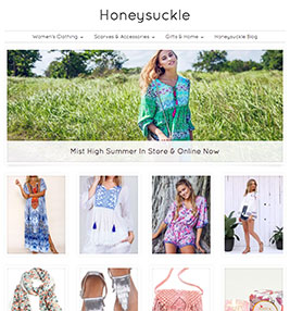 Honeysuckle Fashion ecommerce store